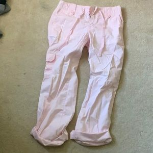 women's Gap soft pink trousers